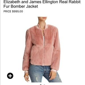Brand new jacket made with real rabbit fur.
